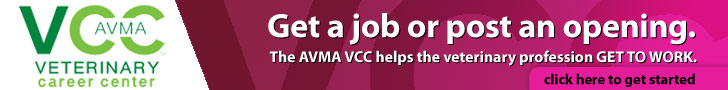Get a job or post an opening.  The AVMA VCC helps the veterinary profession GET TO WORK.  Click here to get started.