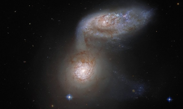 Two galaxies were on a collision course