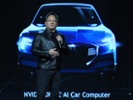 Nvidia's Huang shows off a self-driving car at CES