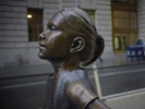 """""""Fearless Girl"""" statue on Wall Street"""