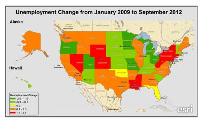 Dive deeper into state-by-state unemployment data: http://smartblogs.com/finance/2012/11/06/is-election-really-jobs/