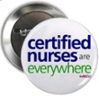 Certified Nurses Are Everywhere! button