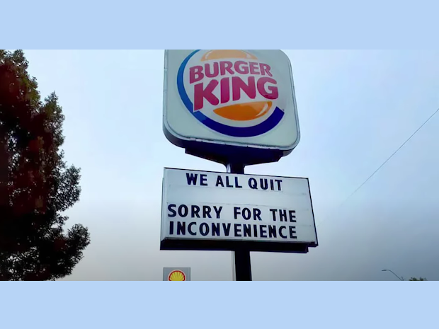 These departing employees left a whopper of a message