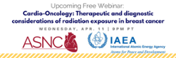 Join us for an oncology webinar tonight, 9 p.m. PDT, presented by ASNC and IAEA!