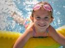 Girl in pool.