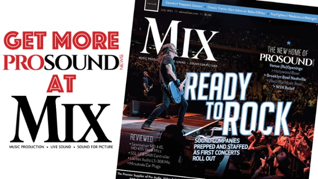 PRO SOUND NEWS MOVES TO MIX