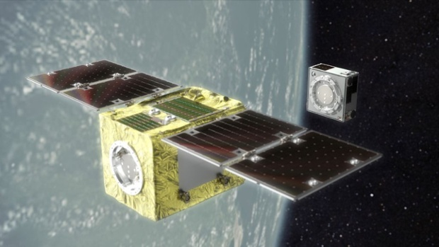 Space junk removal satellite aces 1st orbital test