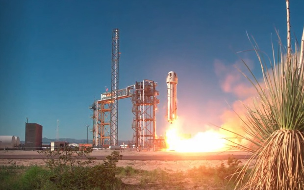 Blue Origin launches New Shepard to test moon landing tech and more in suborbital flight