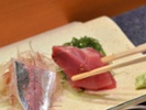 Chef Kato swears by the Yanagi sashimi knife