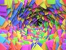 Math teacher creates art with Post-It Notes
