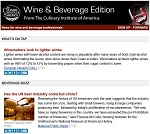 Stay on top of industry news with CIA Wine & Beverage Edition