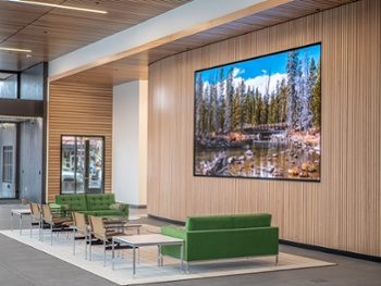 dvLED Video Wall Brings Nature to Boise Lobby