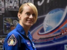 Astronaut Kate Rubins fills in NIH director on her research.
