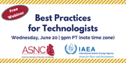 Tonight's the night! IAEA/ASNC Technologist Webinar at 9 p.m. (PT)