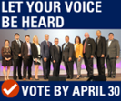 Vote by April 30 for your new volunteer leadership