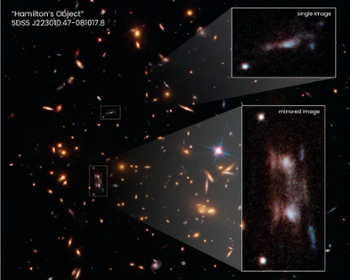 Mystery solved! Bizarre Hubble double galaxy caused by 'ripple' in space
