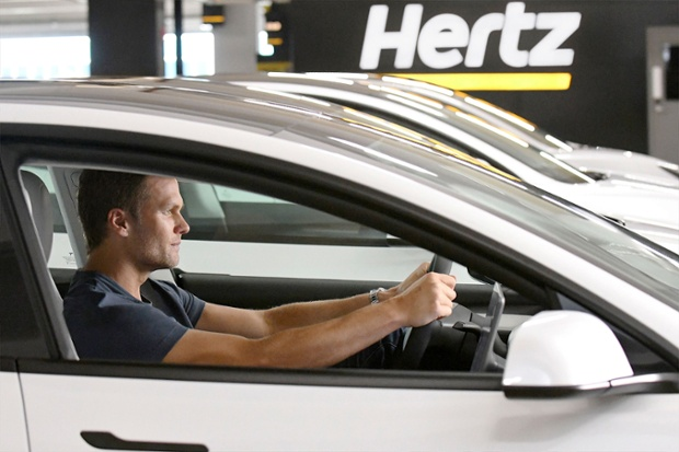 Tesla electric cars available to rent at Hertz