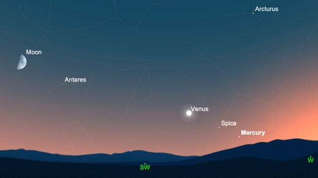 Spot the elusive planet Mercury at its 'greatest elongation' from the sun this evening