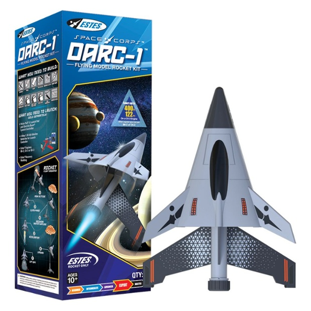 Estes' DARC-1 is its most challenging Space Corps model rocket kit yet