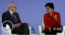 Nooyi talks corporate strategy, women leaders