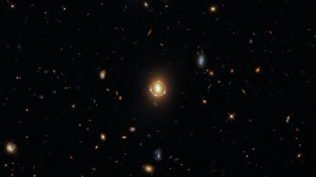 Hubble captures gorgeous image of 'Einstein ring' from warped quasar light