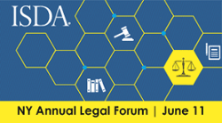ISDA's Annual Legal Forum is back in NYC -- June 11 with remarks from CFTC Commissioner Dawn Stump