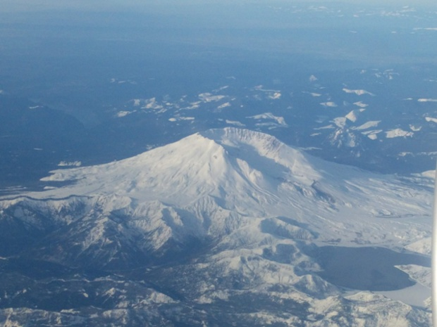 Mount St. Helens from above