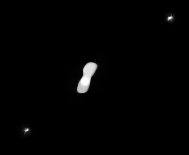 Scientists fetch best images to date of 'dog bone' asteroid and 2 tiny moons