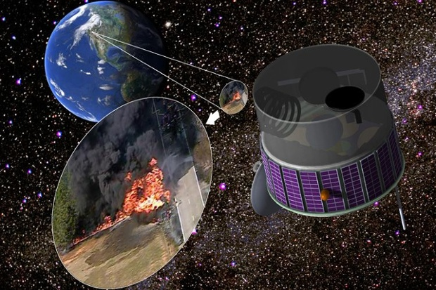 Airborne fire sensor project plans a trial for possible space mission