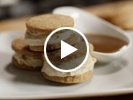 Brown butter ice cream sandwiches with walnut butter cookies and butterscotch