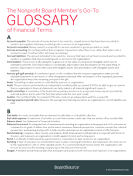 Nonprofit Financial Terms Glossary