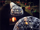 Luxury igloos with a view available at Spokane's Davenport Grand Hotel